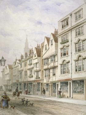 Wych Street, Westminster, London, C1850 by Thomas Hosmer Shepherd