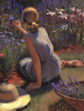 Catmint & Cornflowers by Thomas J. Larson