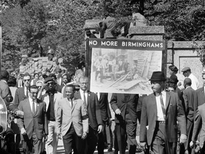 Congress of Racial Equality Marches in Memory of Birmingham Youth