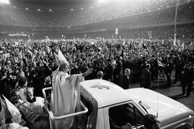 Pope John Paul II's first U.S. visit at Yankee Stadium, 1979