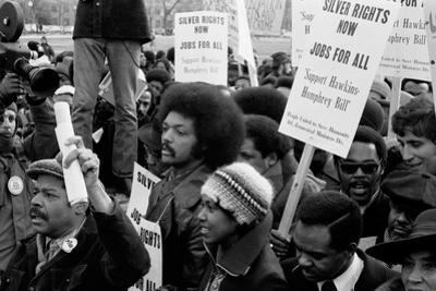 Reverend Jesse Jackson's march for jobs at the White House, 1975