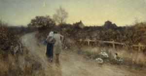 An Evening Stroll, 1906 by Thomas James Lloyd