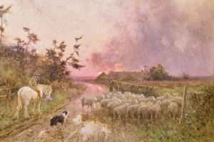 At the End of the Day, 1910 by Thomas James Lloyd