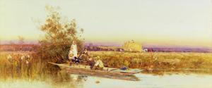 In the Punt, 1895 by Thomas James Lloyd