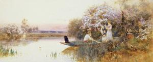 Picking Blossoms. 1895 by Thomas James Lloyd