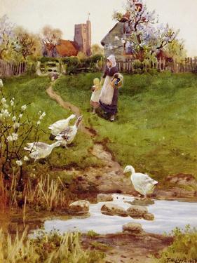 Returning Home, 1894 by Thomas James Lloyd