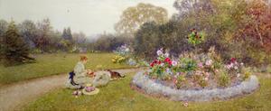 The Rose Garden, 1903 by Thomas James Lloyd