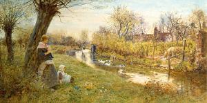 Watching the Ducks by Thomas James Lloyd