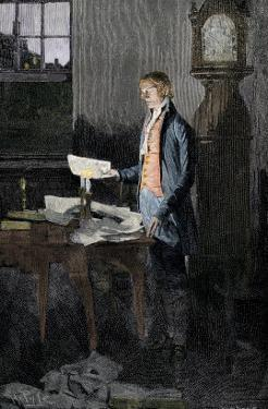 Thomas Jefferson Writing the Declaration of Independence, 1776