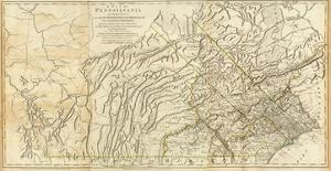 Map of Pennsylvania, c.1776 by Thomas Jefferys