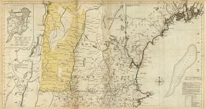 The Provinces of Massachusetts Bay and New Hampshire, Northern, c.1776 by Thomas Jefferys