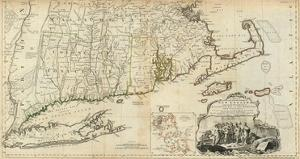 The Provinces of Massachusetts Bay and New Hampshire, Southern, c.1776 by Thomas Jefferys