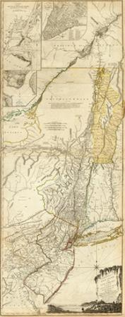 The Provinces of New York, and New Jersey, c.1776