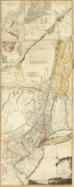 The Provinces of New York, and New Jersey, c.1776 by Thomas Jefferys