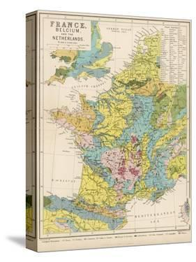 Map of France Belgium and the Netherlands by Thomas Johnson