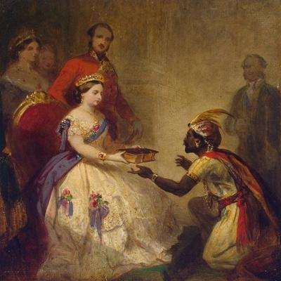 Queen Victoria Giving the Bible to an African Chief, 1861