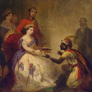 Queen Victoria Giving the Bible to an African Chief, 1861 by Thomas Jones Barker