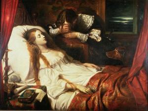 The Bride in Death, 1839 by Thomas Jones Barker