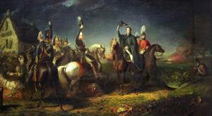 The Meeting of the Duke of Wellington and Field Marshal Blucher by Thomas Jones Barker