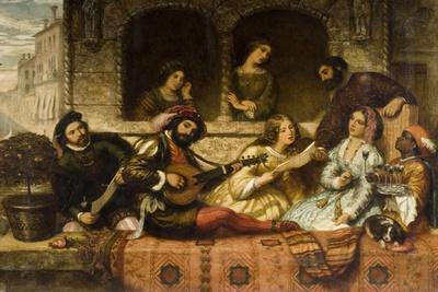 Venetian Balcony Scene, 1859