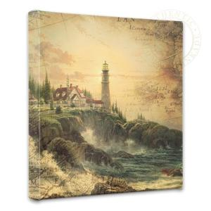 Clearing Storm Map Collage by Thomas Kinkade