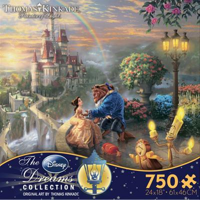 Thomas Kinkade Disney Dreams - Beauty and the Beast 750 Piece Jigsaw Puzzle