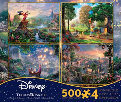 Thomas Kinkade Disney Dreams Collection 4 in 1 500 Piece Puzzle, Series 2