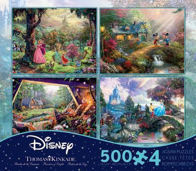Thomas Kinkade Disney Dreams Collection 4 in 1 500 Piece Puzzle - Volume 3