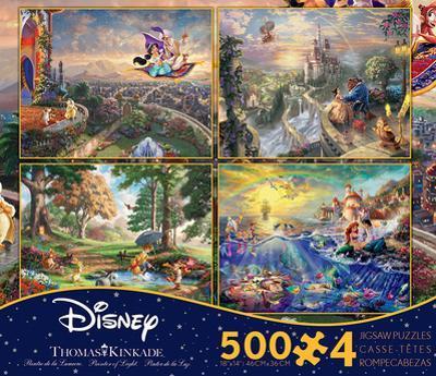 Thomas Kinkade Disney Dreams Collection 4 in 1 500 Piece Puzzle