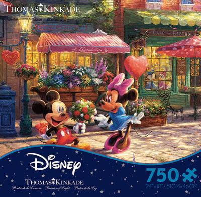 Thomas Kinkade Disney Dreams - Mickey and Minnie Sweetheart Caf?50 Piece Jigsaw Puzzle