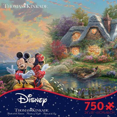 Thomas Kinkade Disney Dreams - Mickey & Minnie 750 Piece Jigsaw Puzzle