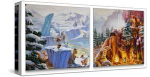 Ice Age (Set of 2) by Thomas Kinkade