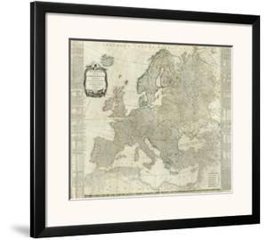 Composite: Europe, c.1787 by Thomas Kitchin