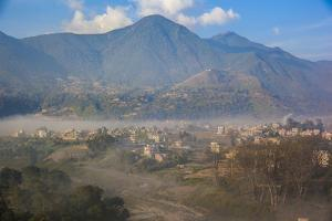 View of Champa Devi, a sacred mountain from Sneha's Care, Bhaisipati, Kathmandu, Nepal, Himalayas,  by Thomas L. Kelly