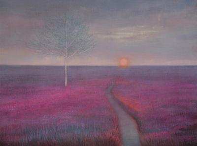 Path through Heather by Thomas Lamb