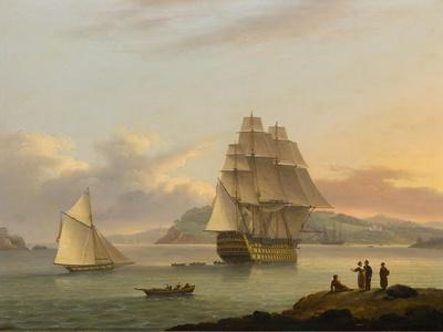 A Ship of the Line Off Plymouth, 1817