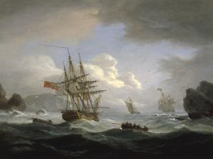 Plymouth Sound, 1829 by Thomas Luny