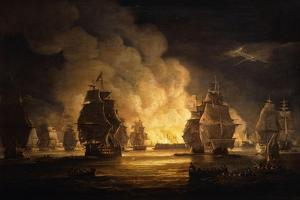 The Battle of Algiers: the Bombardment, 1824 by Thomas Luny