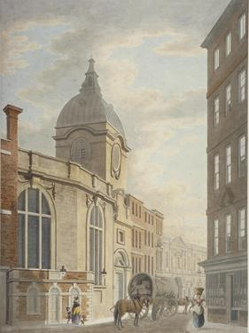 Church of St Benet Fink, Threadneedle Street, City of London, 1797 by Thomas Malton II