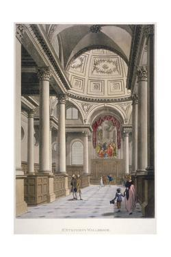 Interior of the Church of St Stephen Walbrook, City of London, 1798 by Thomas Malton II