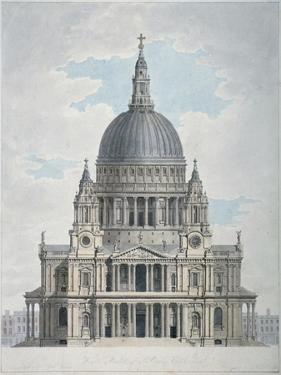 West Front of St Paul's Cathedral, City of London, 1780 by Thomas Malton II