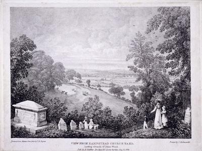 General View of Hampstead, London. 1822