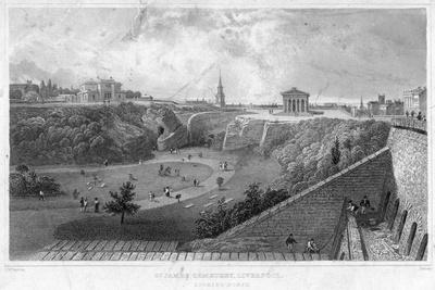 St James Cemetery, Liverpool, Looking North, 19th Century