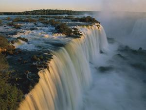 Cascades of Iguacu Falls, Iguacu Falls Nat'l Park, Brazil by Thomas Marent/Minden Pictures
