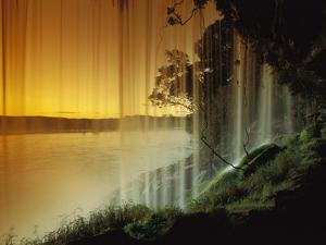 Salto Hacha Waterfall, Canaima Nat'l Park, Venezuela by Thomas Marent/Minden Pictures