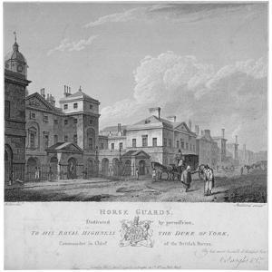 Horse Guards, Westminster, London, 1795 by Thomas Medland