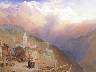 Valley of St. Nicolas, Monte Rosa Range, C.1854