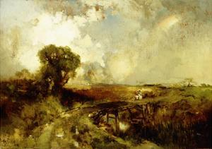 A Summer Shower, 1878 by Thomas Moran