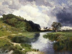 Amagansett Approaching Storm by Thomas Moran
