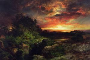 An Arizona Sunset Near the Grand Canyon, 1898 by Thomas Moran